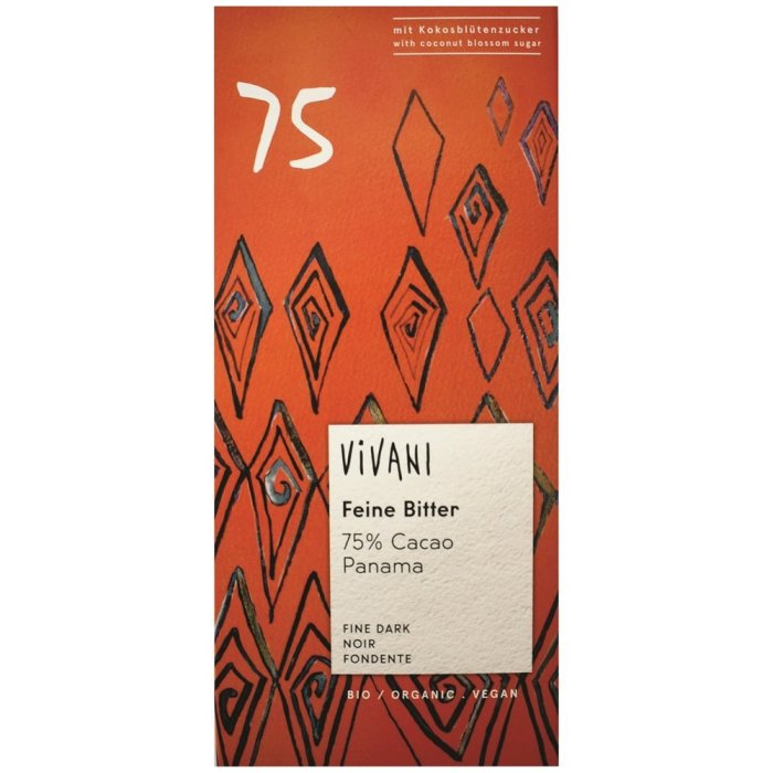 Vivani Dark chocolate 75% 100gx10