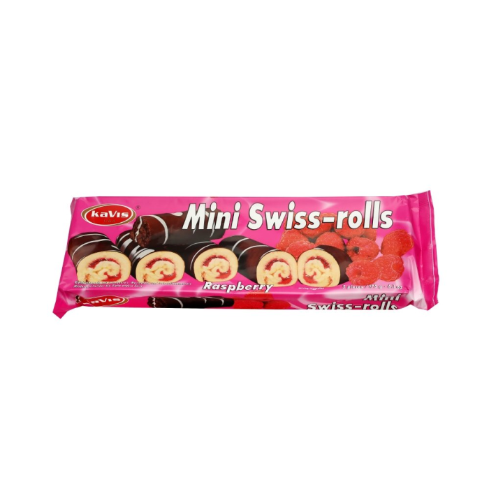 Mini Swiss-rolls raspberry 175gx20
