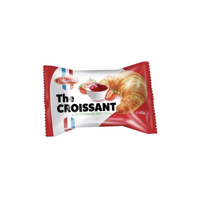 Croissant with strawberry filling 24x45g