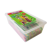 Damla kyslá pásik  rainbow pet box (100ks) 1kg
